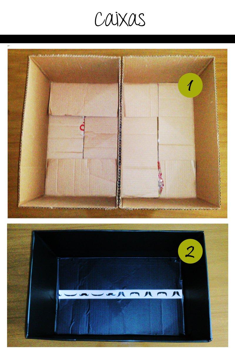 caixas1 Como fazer sapateira com caixas de papelão