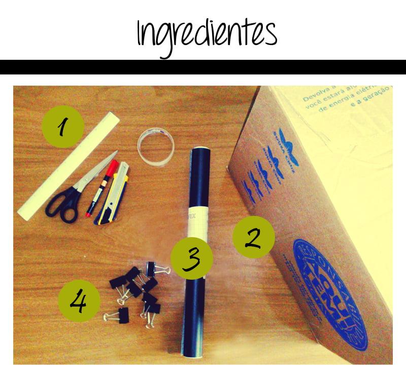 ingredientes21 Como fazer sapateira com caixas de papelão