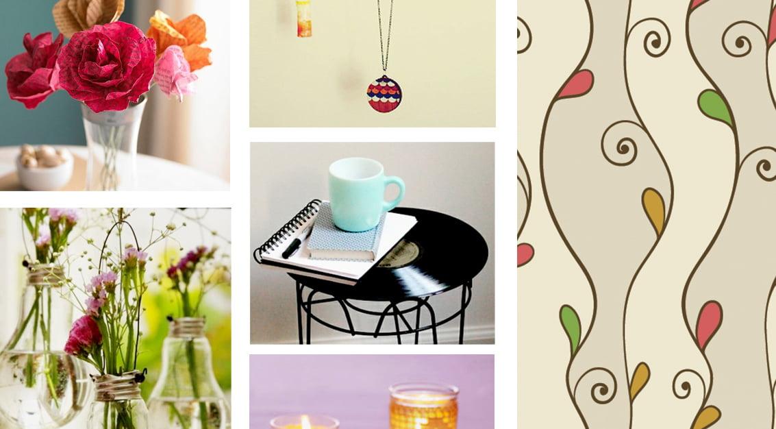 Inspiração do dia: flores, disco de vinil, lâmpadas, porta-colares e velas
