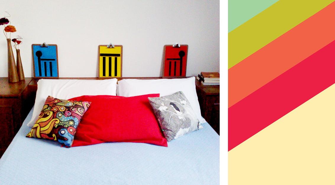 Criando em casa: pranchetas na cabeceira da cama