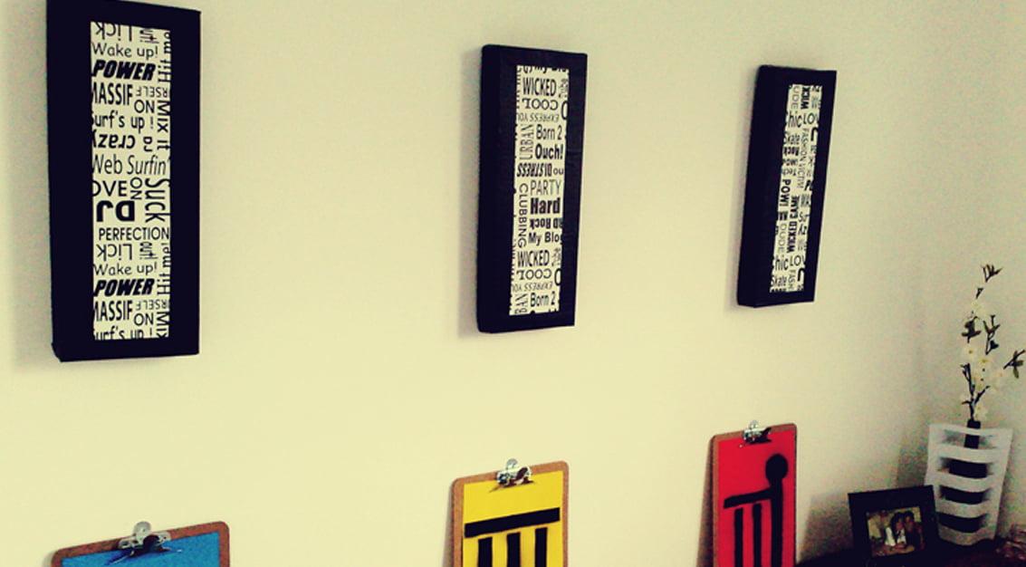 Criando em casa: quadros de papelão