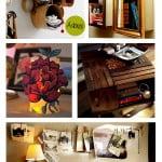 Inspiração do dia: caixas, luminária e varal de fotos