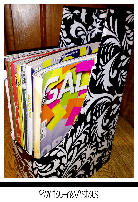 portarevistas22 Criando em casa: porta revistas com caixa de cereal