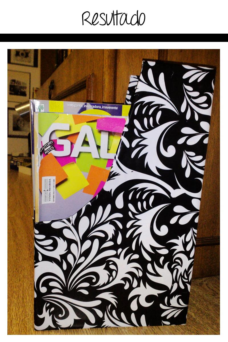 resultado7 Criando em casa: porta revistas com caixa de cereal