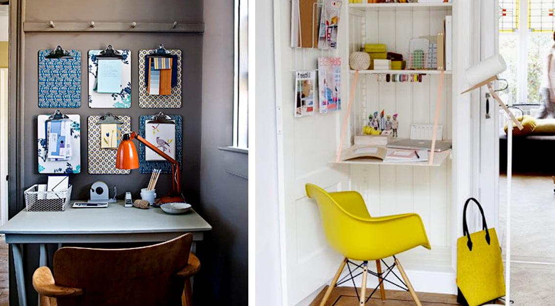 Inspiração do dia: escrivaninhas decoradas