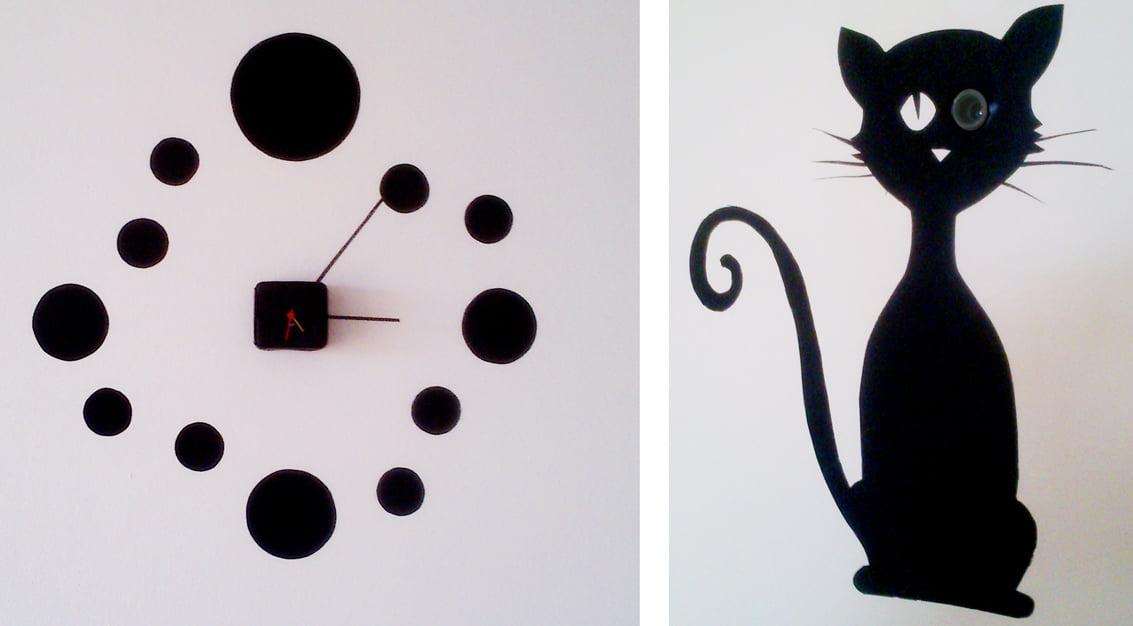 Criando em casa: relógio de parede com papel contact