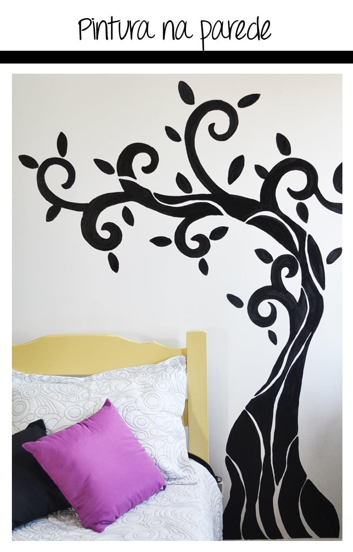Adesivo De Joaninha Para Unhas ~ Pintura na parede como fazer Mania de Decoraç u00e3o