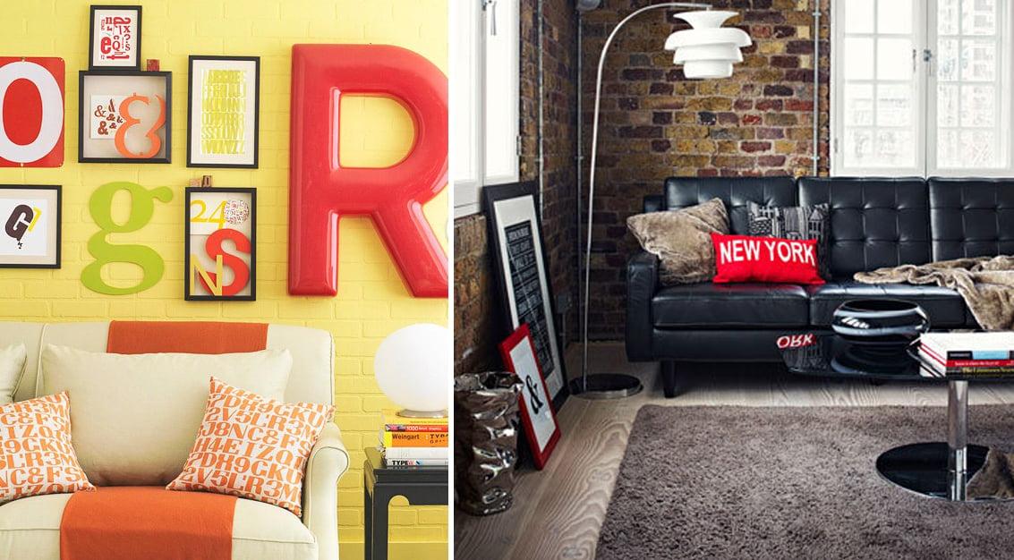Inspiração do dia: decorando com tipografia!
