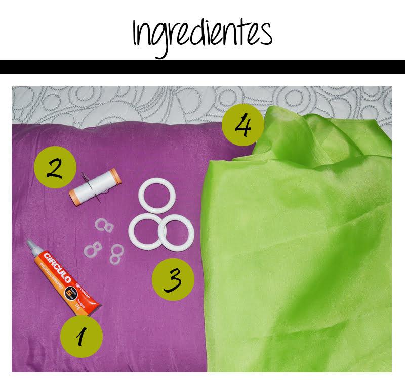 02 ingredientes1 Como fazer cortinas sem máquina de costura