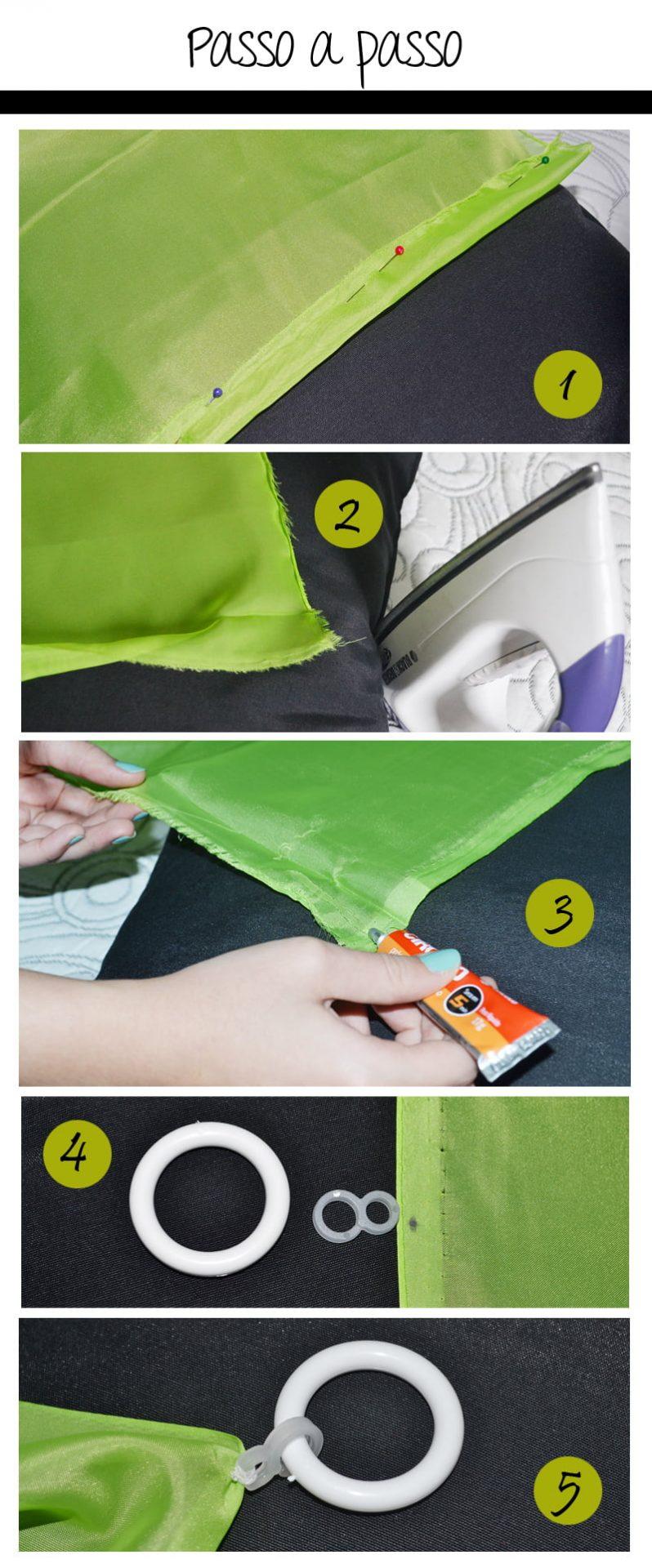 03 passoapasso1 Como fazer cortinas sem máquina de costura