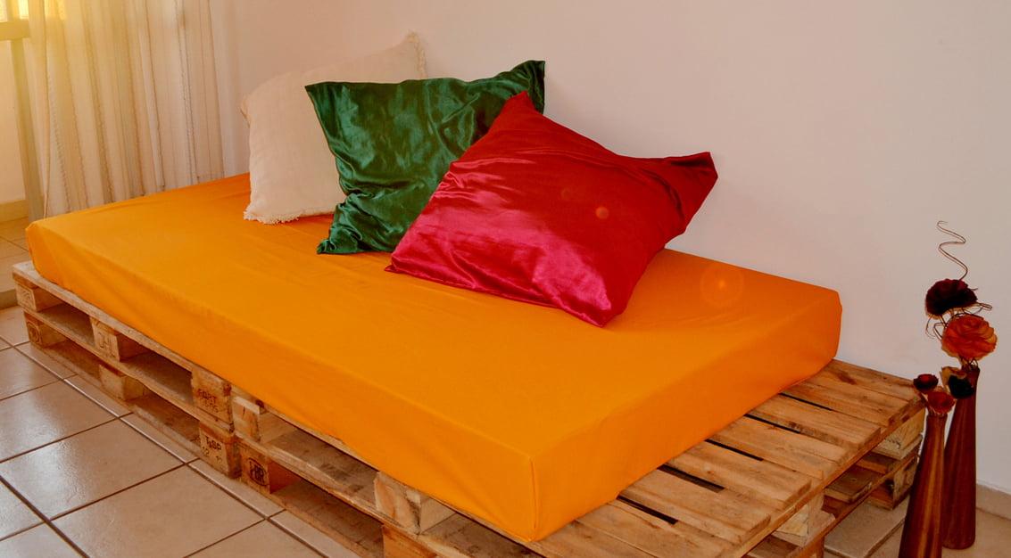 Finalmente: meu sofá de pallets!