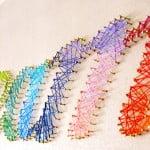 DIY: Quadro com pregos e linha de bordado!