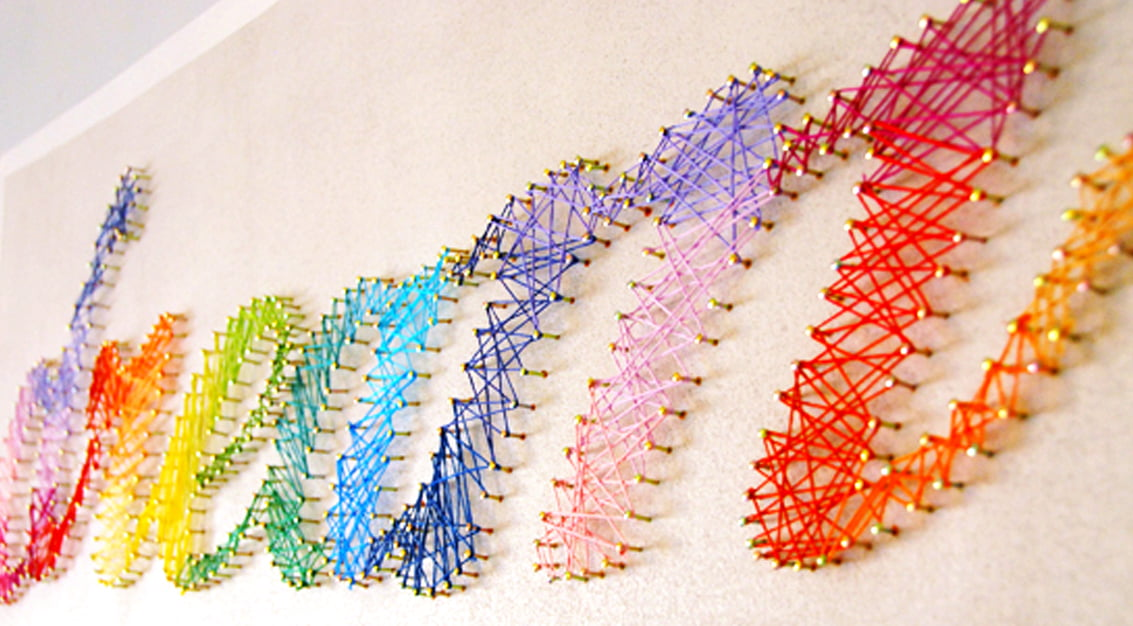 DIY String Art: 24 Designs to Create and Hang *NEW and FREE SHIPPING