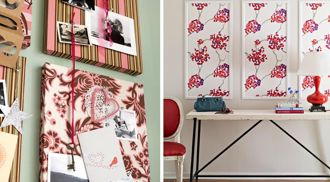 Inspiração do dia: usando pedaços de tecido de forma criativa na decoração