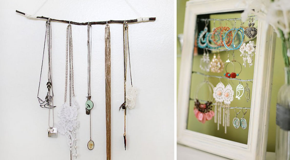 DIY: ideias criativas para guardar bijuterias