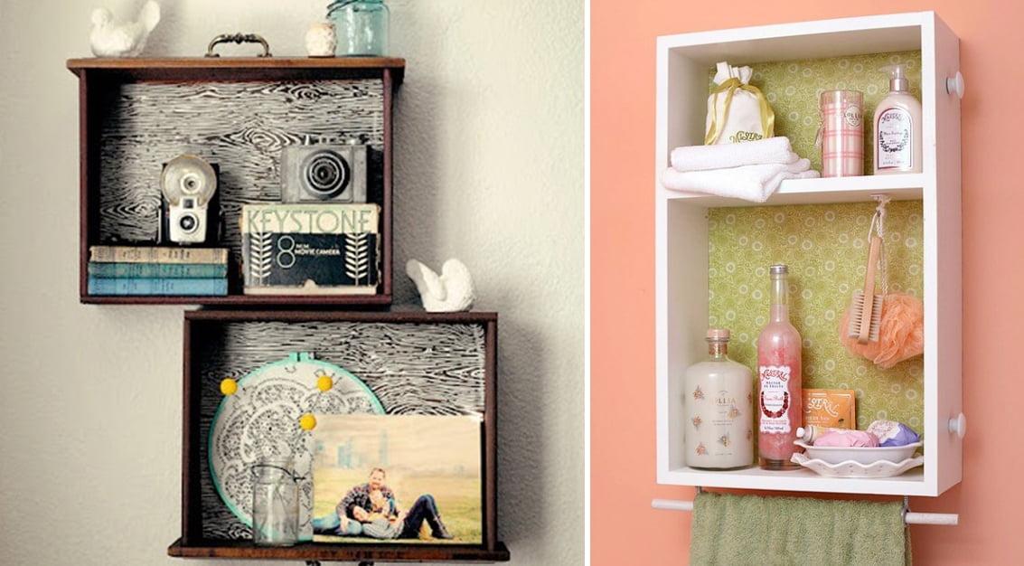 Inspiração do dia: reaproveitando gavetas como prateleiras criativas!