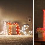 DIY: Letras de papelão com luzes!