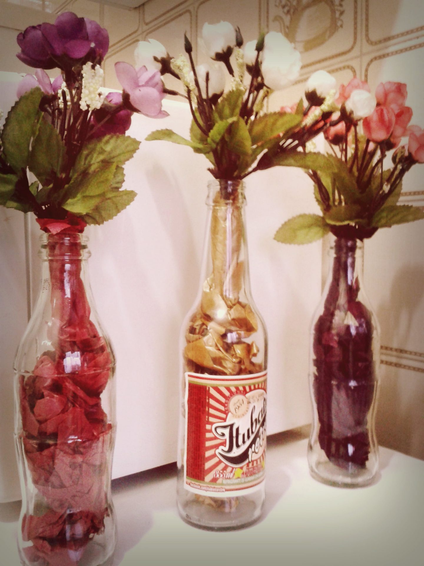 garrafas na decoracao