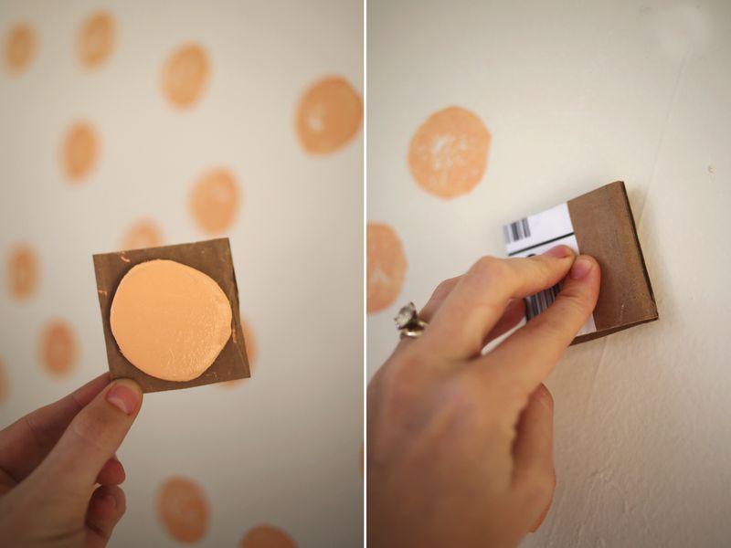 Diy carimbo na parede mania de decora o for Pintura de paredes originales