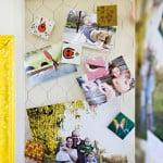 DIY: Mural de recados com moldura e arame