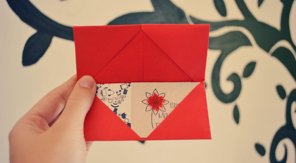 Como fazer origami: porta cartões de visita