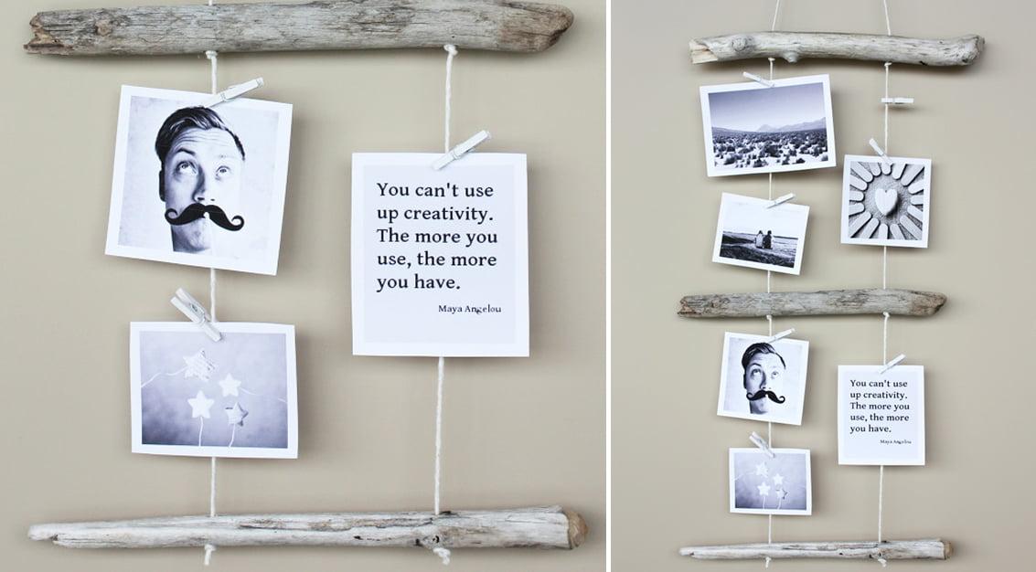DIY: enfeite com fotos para a parede