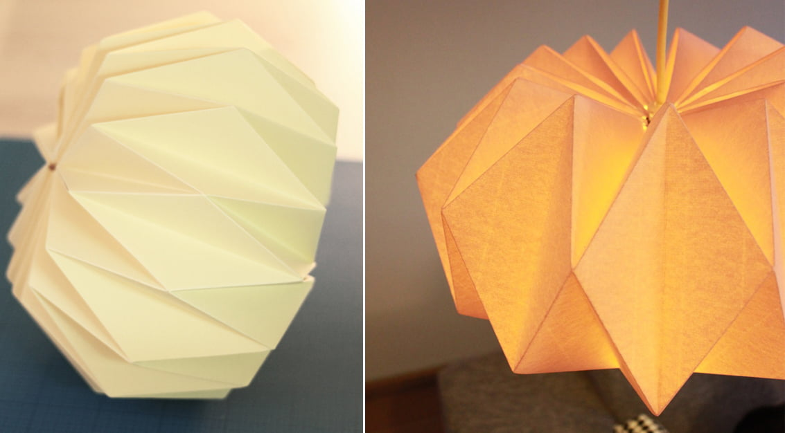 Como fazer luminária de papel