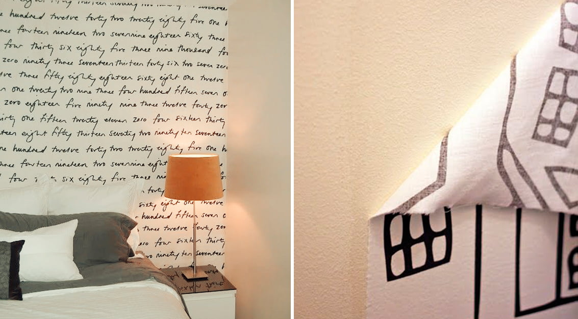 Como fazer papel de parede com tecido