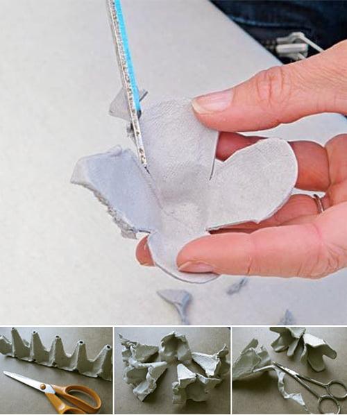 decoração com reciclagem 1 Decoração com reciclagem: caixas de ovos