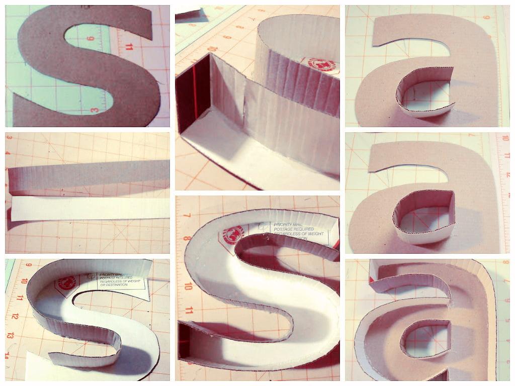 Como fazer letras de papel o 3d mania de decora o for Como criar cachamas en estanques