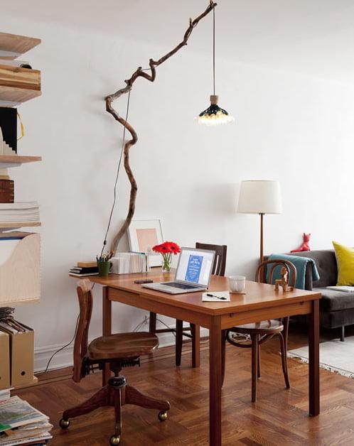 Decoração-com-ramos-galhos-e-madeira-luminaria