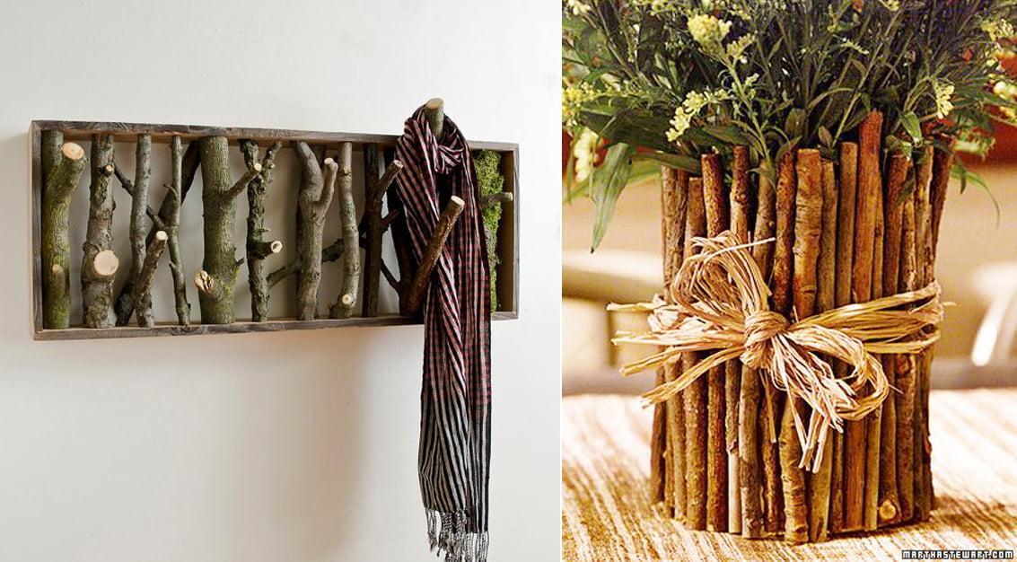Decoração com ramos, galhos e madeira - inspire-se!