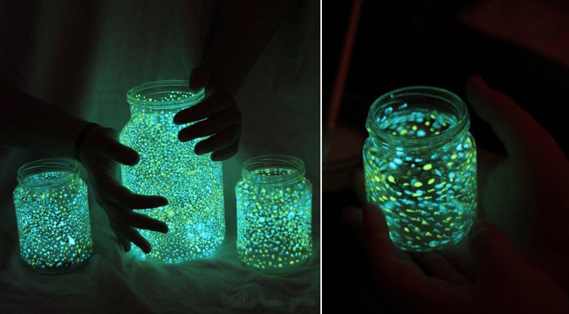 Como fazer potes que brilham no escuro
