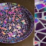 Mosaico com CD – aprenda a fazer!