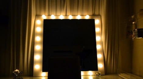 Como fazer espelho com luzes
