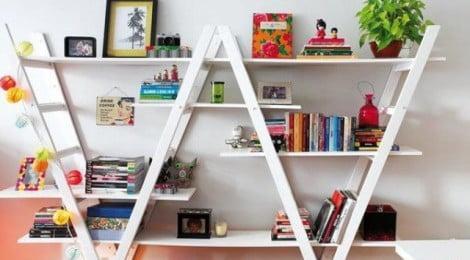 Como reaproveitar escadas na decoração