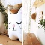 Vaso de flores com garrafa PET – DIY