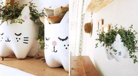 Vaso de flores com garrafa PET - DIY