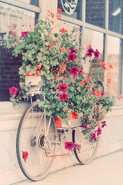 enfeite jardim bicicleta:Bicicleta na decoração – Inspire-se! – Mania de Decoração