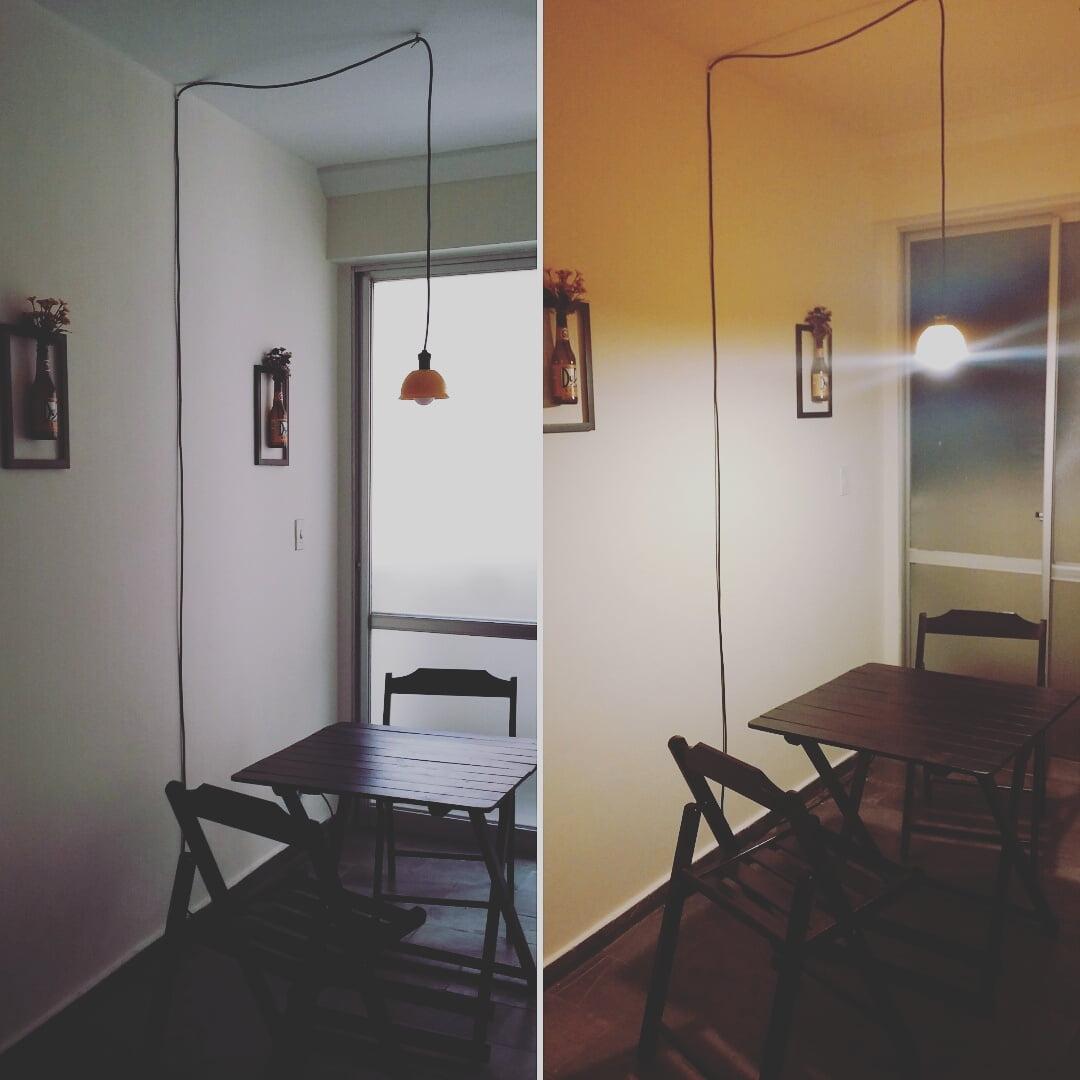 Como fazer uma luminária de teto com 35 reais Mania de  ~ Como Fazer Uma Luminaria Para Quarto