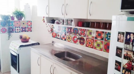 Decoração com azulejos adesivos