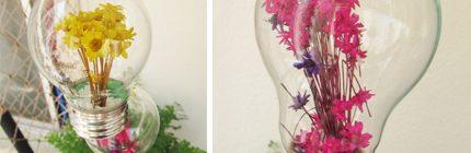 Como abrir uma lâmpada e colocar flores