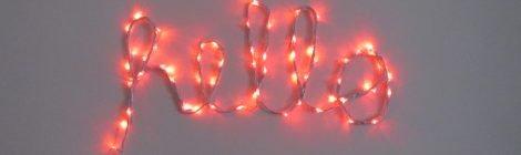 Como fazer letras com luzes de led