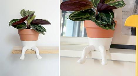Como fazer vaso de planta divertido
