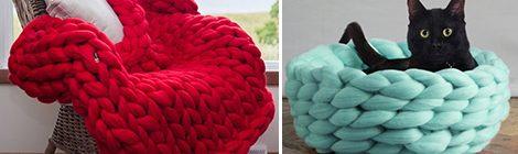 Como fazer cobertor usando apenas os braços - Tricô de braço