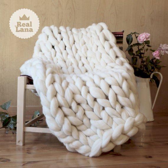Hand Knit Blanket