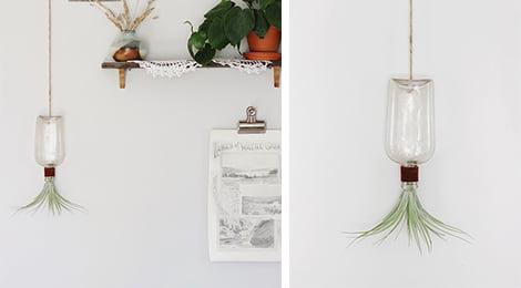 Vaso de pendurar feito de garrafa - DIY