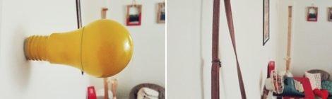 Como transformar uma lâmpada de LED estragada em gancho de parede