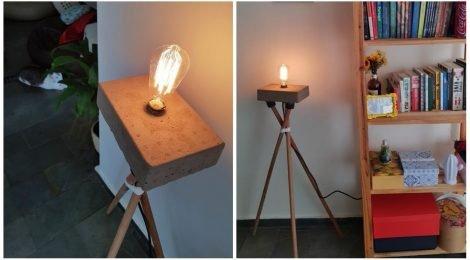 Como fazer luminária com cabo de vassoura
