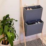 Sapateira com caixa de papelão – DIY